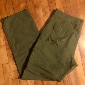Men's Cabelas Convertible Cargo Pants Green